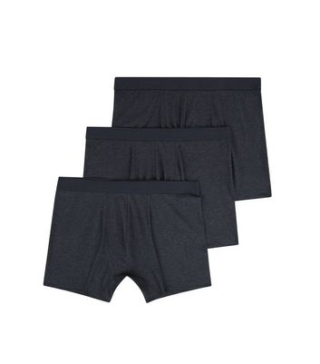 3 Pack Dark Grey Boxer Briefs