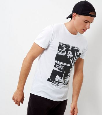 White NY Collage T-Shirt