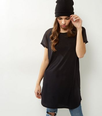 JDY Black Mesh Short Sleeve Top