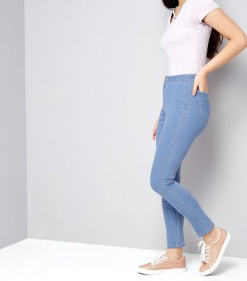 Teens Blue High Waisted Skinny Jeans