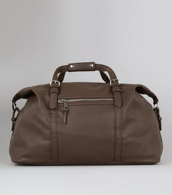 Brown Pebble Grain Holdall