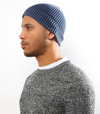 Navy Washed Beanie