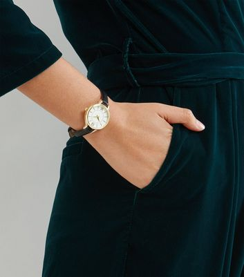 Black Skinny Strap Watch