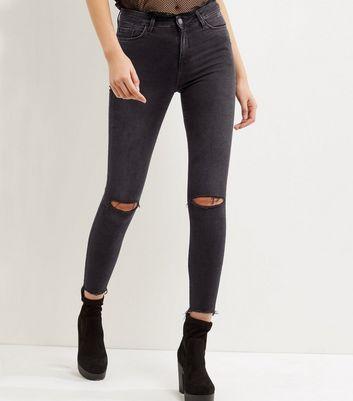 jeans femme skinny taille haute et d chir s new look. Black Bedroom Furniture Sets. Home Design Ideas