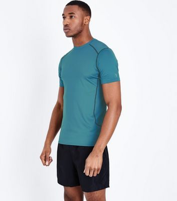 Blue Stretch Short Sleeve Sports T-Shirt