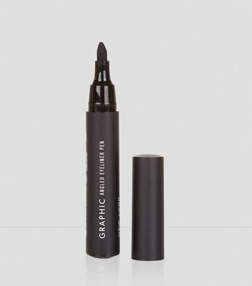 Black Graphic Angled Eye Liner Pen