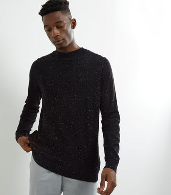 Black Speckled Turtle Neck Jumper