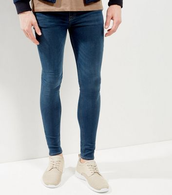 Blue Washed Extreme Super Skinny Jeans