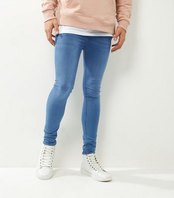 Pale Blue Washed Extreme Super Skinny Jeans