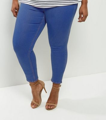 Curves Bright Blue Jeggings