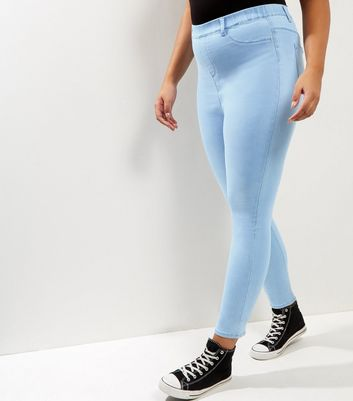 Curves Pale Blue Jeggings