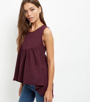 Loving This – Ärmelloses Top in Weinrot