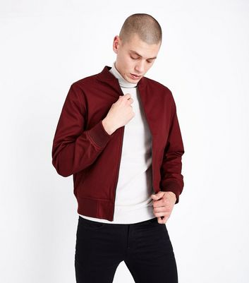 Rust Cotton Bomber Jacket