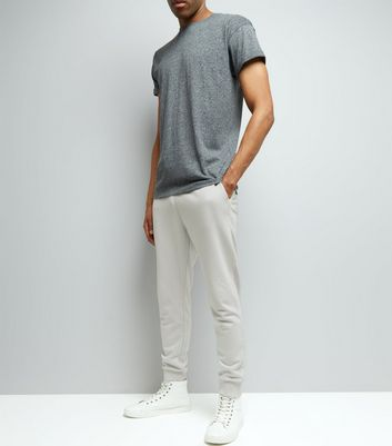 Pale Grey Basic Joggers