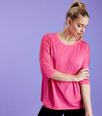 Bright Pink Mesh Oversized Sports T-Shirt
