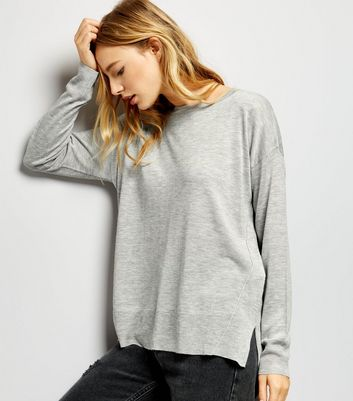 Pale Grey Long Sleeve Jumper