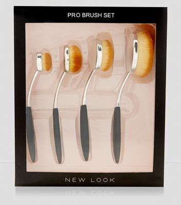 4 Pack Oval Brush Set