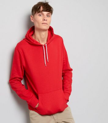 Red Pocket Front Hoodie