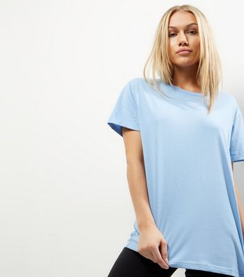 Petite Blue Short Sleeve Boyfriend T-Shirt
