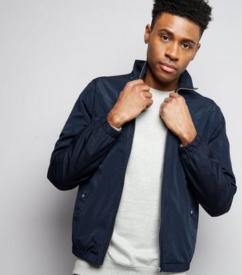 Navy Funnel Neck Track Jacket