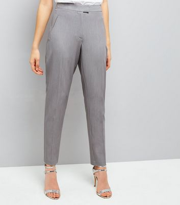 Grey Slim Leg Suit Trousers