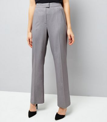 Grey Bootcut Trousers