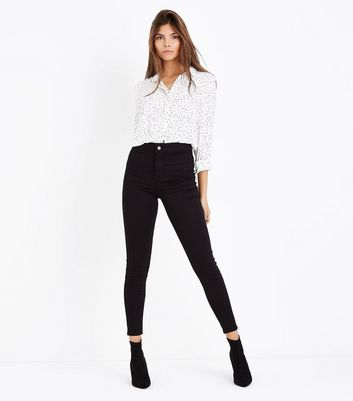 Black Super Skinny High Waist Hallie Jeans