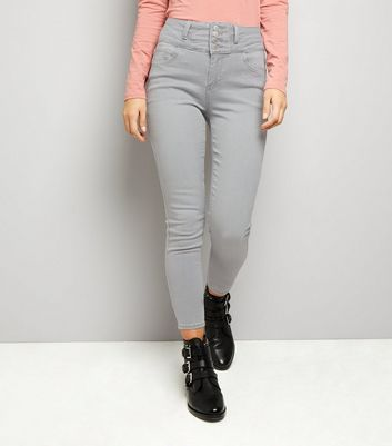 Grey High Waist Skinny Yazmin Jeans