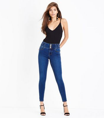 Blue High Waisted Skinny Jeans