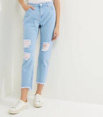 Noisy May Blue Ripped Jeans