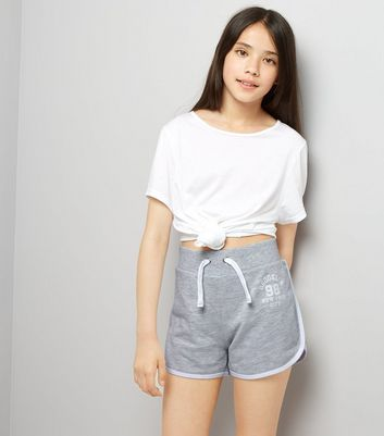 Teens Grey Brooklyn 98 Print Shorts