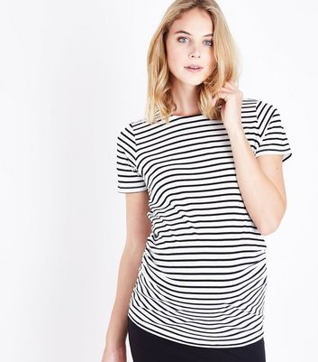 Maternity White Stripe T-Shirt