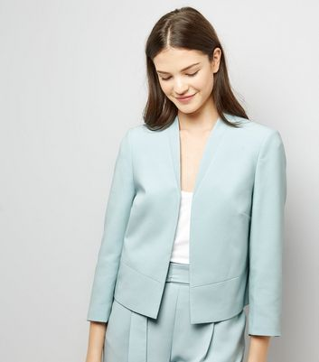 Mint Green Cropped Jacket