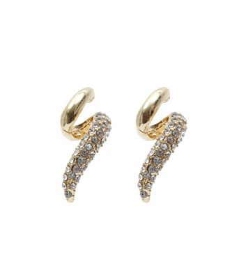 Rose Gold Diamanté Twisted Stud Earrings