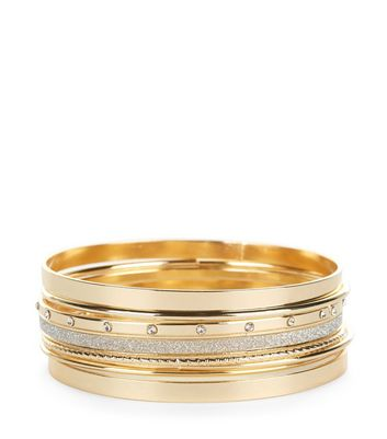 7 Pack Gold Bangles