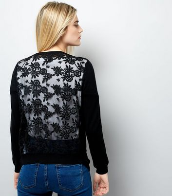 Black Lace Back Cardigan | New Look