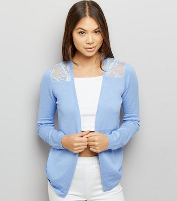 Blue Lace Back Cardigan