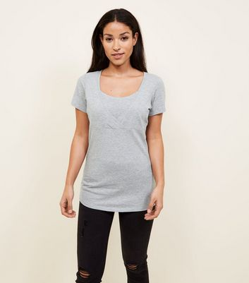 Maternity Grey Nursing T-shirt
