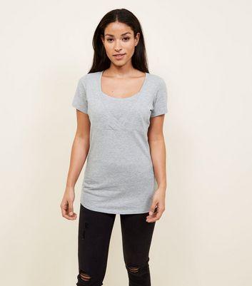 Maternity Grey Nursing T-shirt