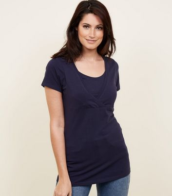 Maternity Navy Nursing T-shirt