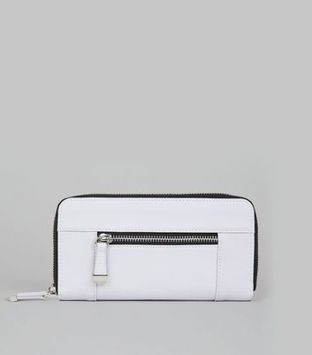 Lilac Contrast Zip Around Purse