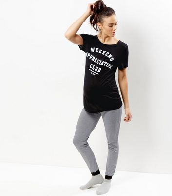 Maternity Black Weekend Appreciation Club Pyjama Set