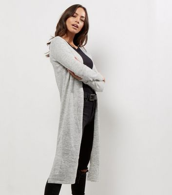Pale Grey Maxi Cardigan | New Look