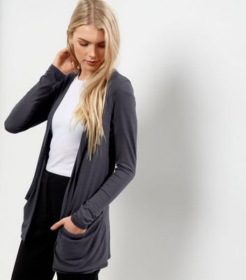 Dark Grey Boyfriend Cardigan