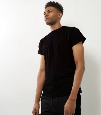 Black Cotton Short Sleeve T-Shirt