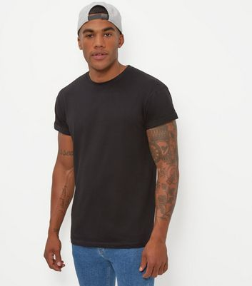 Black Cotton Crew Neck T-Shirt