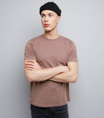 Light Purple Cotton Crew Neck T-Shirt