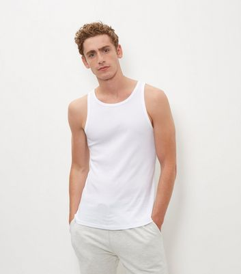 White Cotton Basic Vest