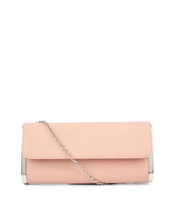 Cream Metal Trim Clutch