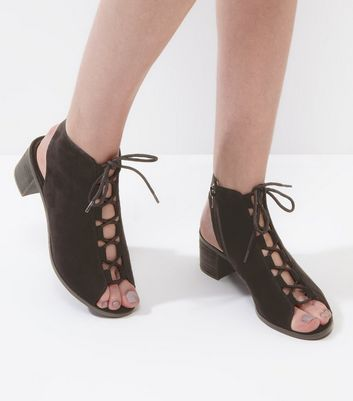Womens Pic Open-Toe Heels New Look gRHTQ
